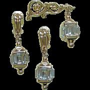 Pennino Lantern Rhinestone Pin Earrings