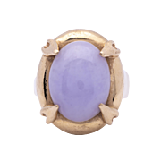 Estate Ladies Rose Quartz 14K Yellow Gold Ring