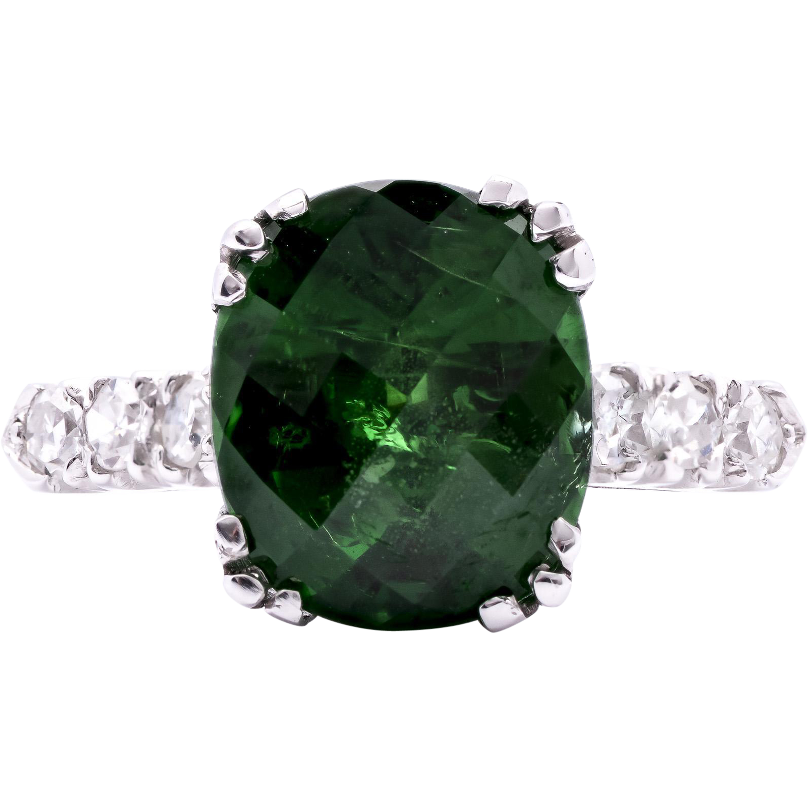 youtube ring cut garnet cushion halo rings watch tsavorite
