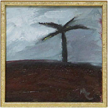 Tropical Palm Tree Oil Painting