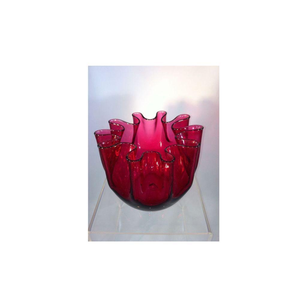 Cranberry Glass Bowl