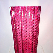 Cranberry Glass Vase