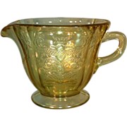 """Madrid"" Amber Depression Glass Creamer"