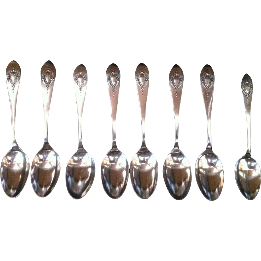 8 Mount Vernon Sterling Spoons