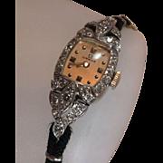 Platinum Ladies Diamond Omega Watch