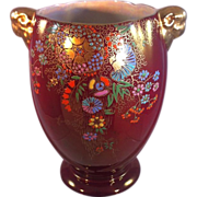Crown Devon Fieldings Rouge Lusterware Vase