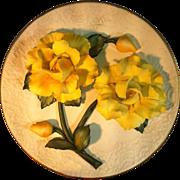 Yellow Roses Capodimonte Plate