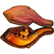 Meerschaum & Amber Pipe with Case