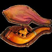Meerschaum & Amber Pipe with Case