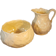 Irish Belleek Creamer and Sugar Set