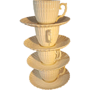Irish Belleek demitasse cup and saucers
