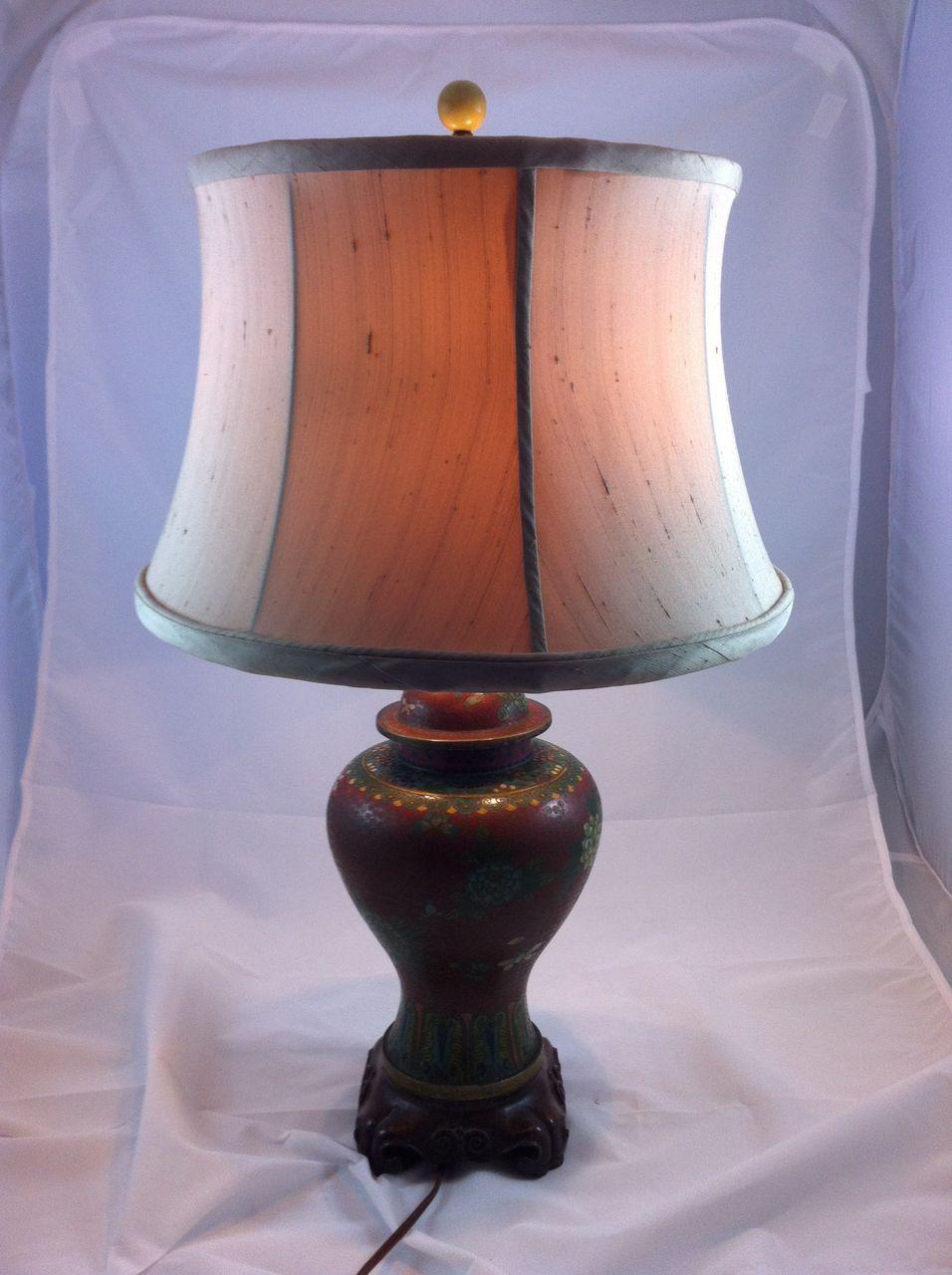 Cloisonn 233 Ginger Jar Lamp From Sterlingsage On Ruby Lane