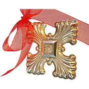 Sterling Silver Christmas Cross Ornament