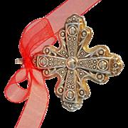1972 Reed & Barton Sterling Christmas Cross