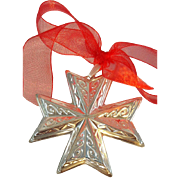 1977 Sterling Silver Christmas Cross by Reed & Barton
