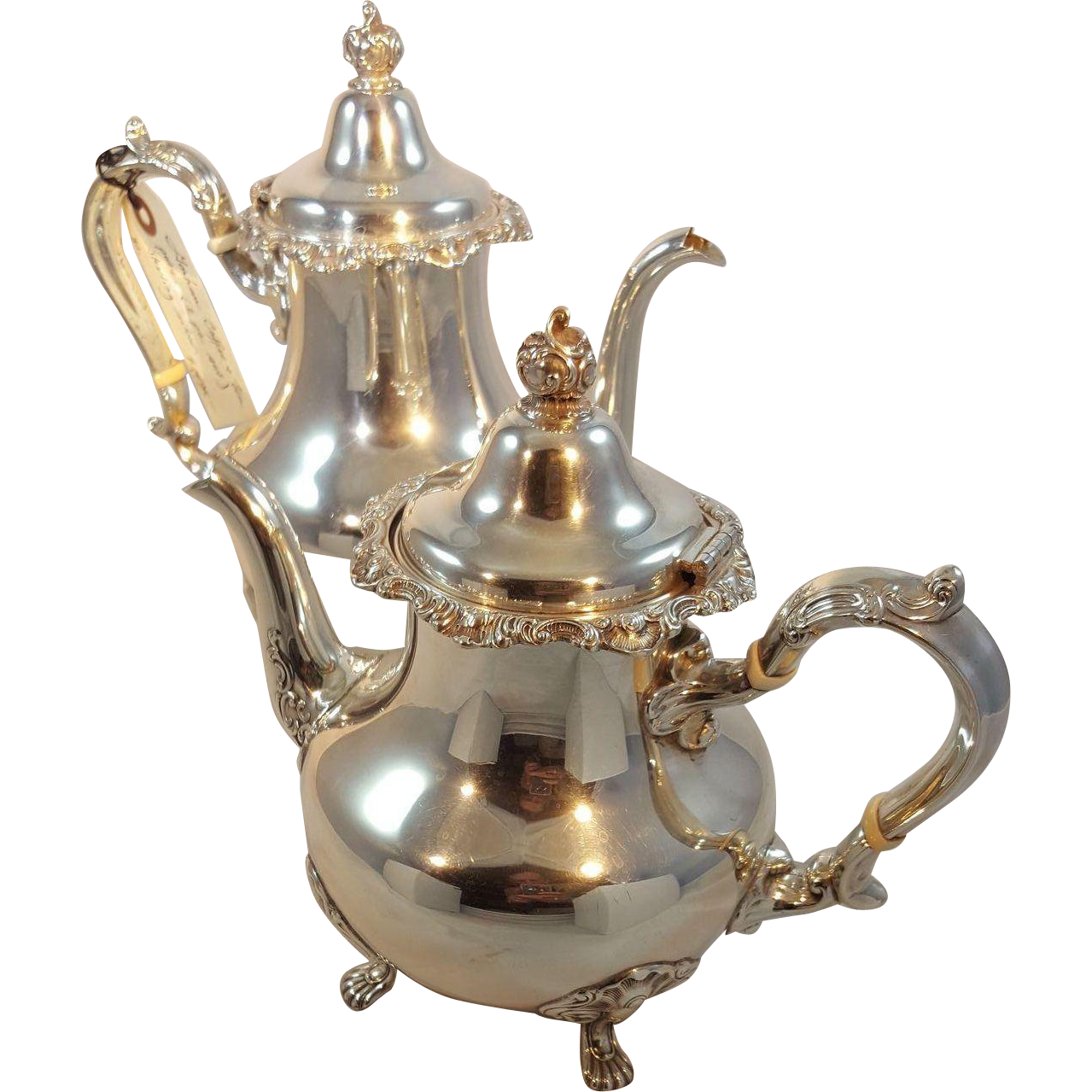 Gorham Sterling Silver Coffee and Tea Pot Set