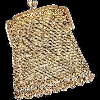 Small silver coin purse