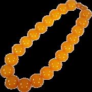 Vintage Butterscotch Amber Necklace