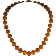 """Honey"" Jade Beaded Necklace"