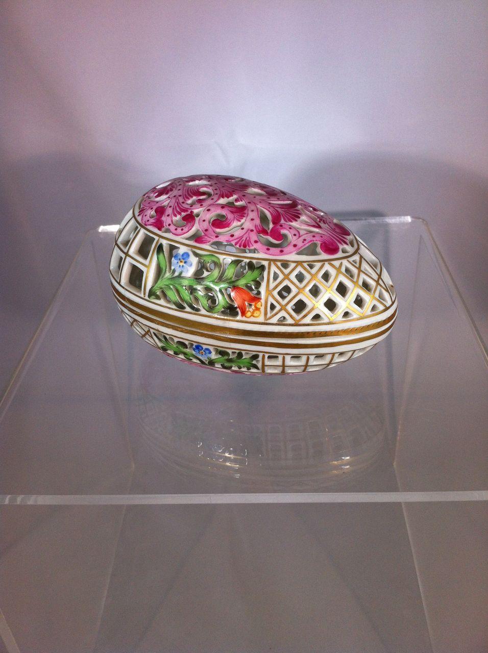 Herend Egg Box Sterling Sage Ruby Lane