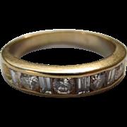 Classic 14k Gold & Diamond Wedding Band Ring