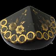 Victorian Pique Inlaid Silver & Gold Brooch