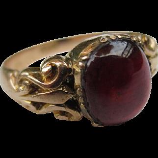 18k Gold Victorian Garnet Antique Ring