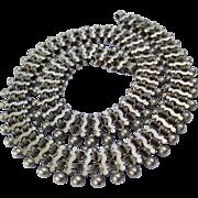 Stunning Victorian Silver Necklace Locket Book Chain