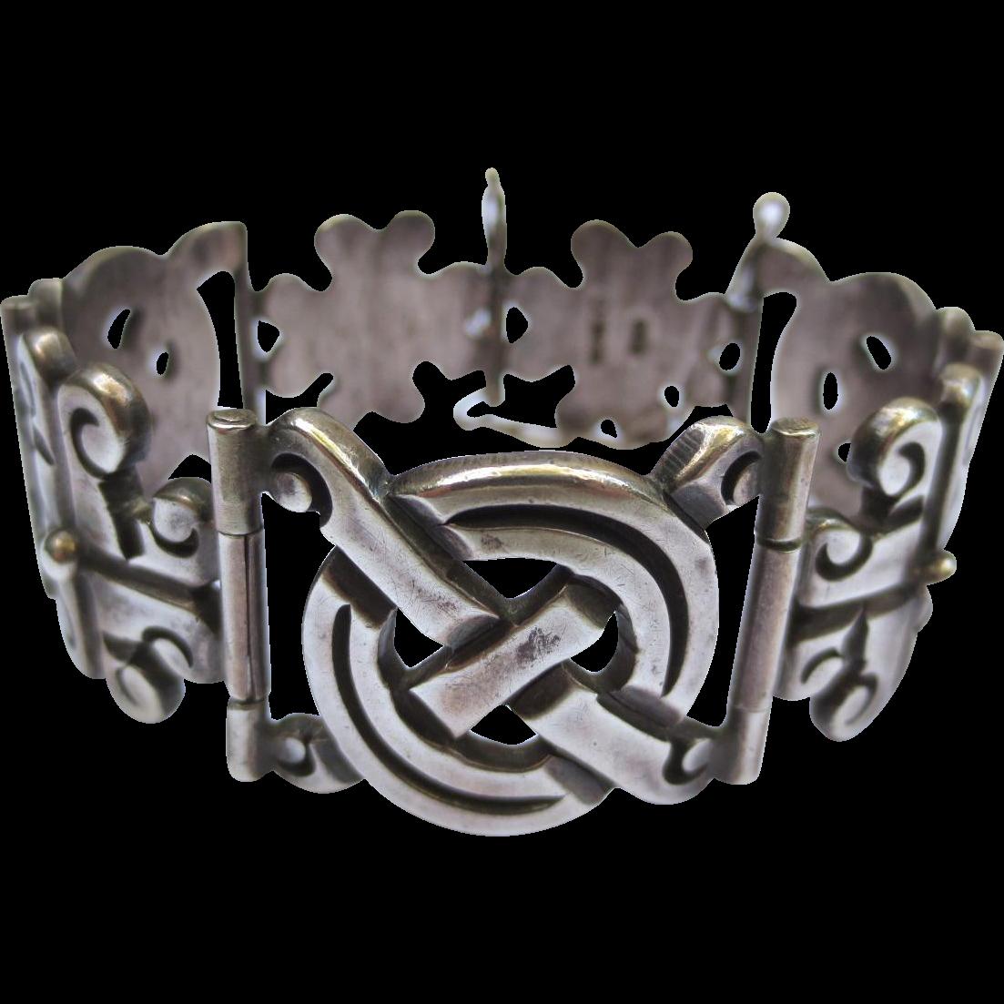 Vintage Taxco 980 Silver Mexican Link Bracelet