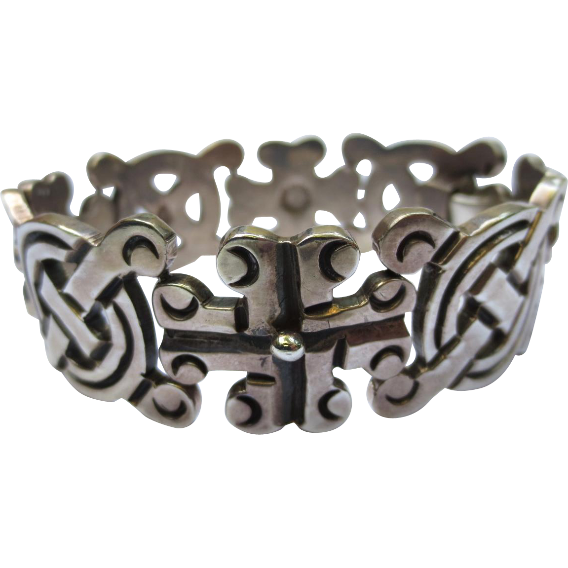 Taxco Sterling Silver Vintage Mexican Bracelet