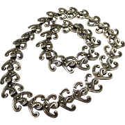Wonderful Margot De Taxco Sterling Silver Mexican Necklace & Bracelet set
