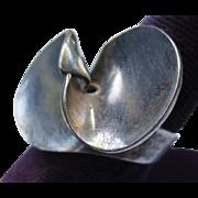 Mid Century Danish Georg Jensen Sterling Silver Propeller Ring