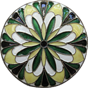 Vintage Russian Silver Enameled Pill Box