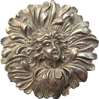 Are Nouveau Sterling Silver Daisy Flower Fairy Brooch