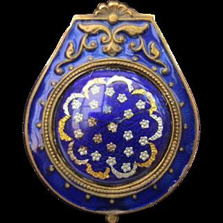 Antique Blue Enamel Empire French Locket