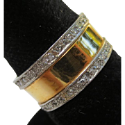 Elegant Platinum Diamond 14k Gold Ring Band