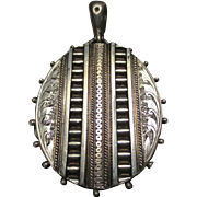 Antique Victorian Sterling Silver Locket Pendant
