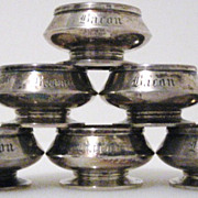 c1860 Set of 6 GORHAM Coin Silver Salts