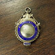 1951 Sterling Silver Roller Skating English Fob Medal