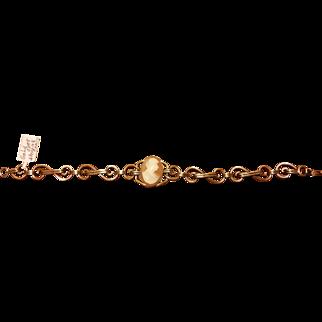 c1940 Cameo Sterling Silver Gilt Bracelet PR.ST.CO.