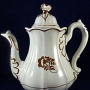 Tea Leaf Ironstone Coffee Pot 10 inches tall Elsmore and Foster Staffordshire