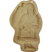 Santa Cookie Mold Brown Bag Cookie Art 1983