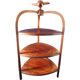 Beautiful Wood Table Top Display Stand 16 inches tall