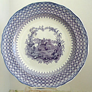"Minton 10"" Purple Transferware Dinner  Plate The Gem"
