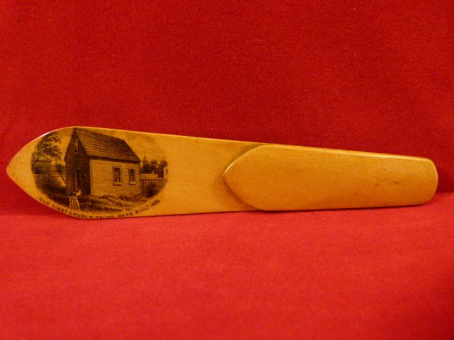 Mauchline Ware Bookmark Salem MA view