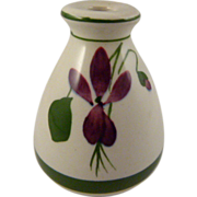 Torquay Pottery Devon Violets Scent Bottle