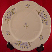 Shelley Blue Rock 8 Inch Plate Fine Bone China 13591