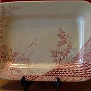 Aesthetic Red Transfer Platter by John Meir & Son c. 1837-97