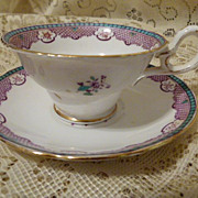 Copelands Grosvenor China Cup and Saucer Made in England