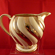 "Sadler England Pitcher Cream and Gold Colors 5.5"" x 7"""